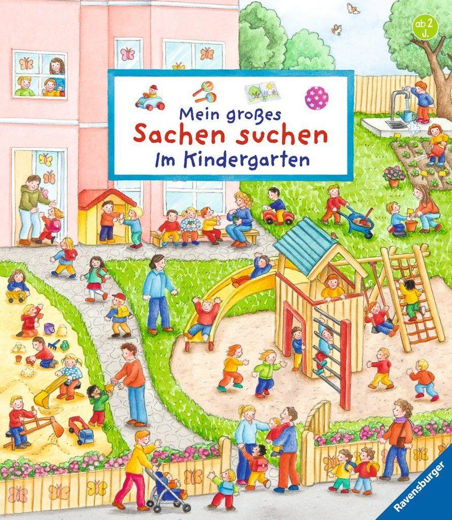 Mein großes Sachen suchen: Im Kindergarten als Buch von Susanne Gernhäuser