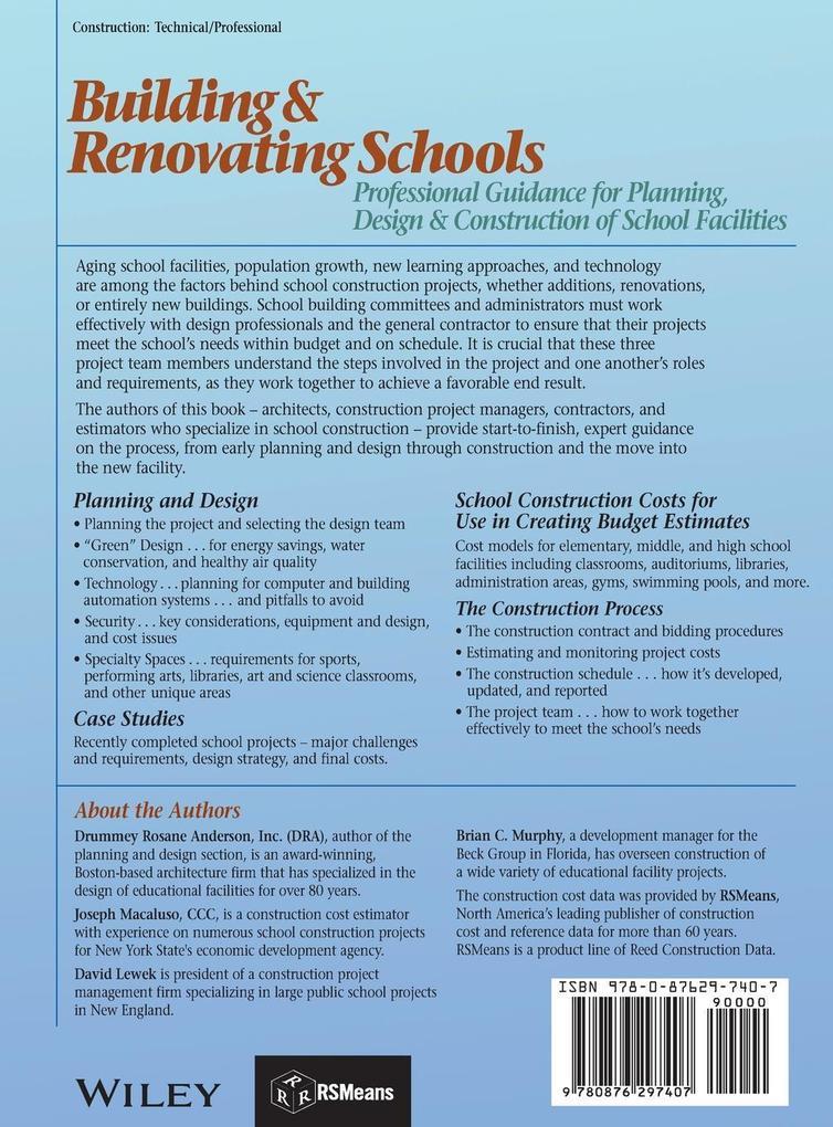 Building and Renovating Schools als Buch (gebunden)