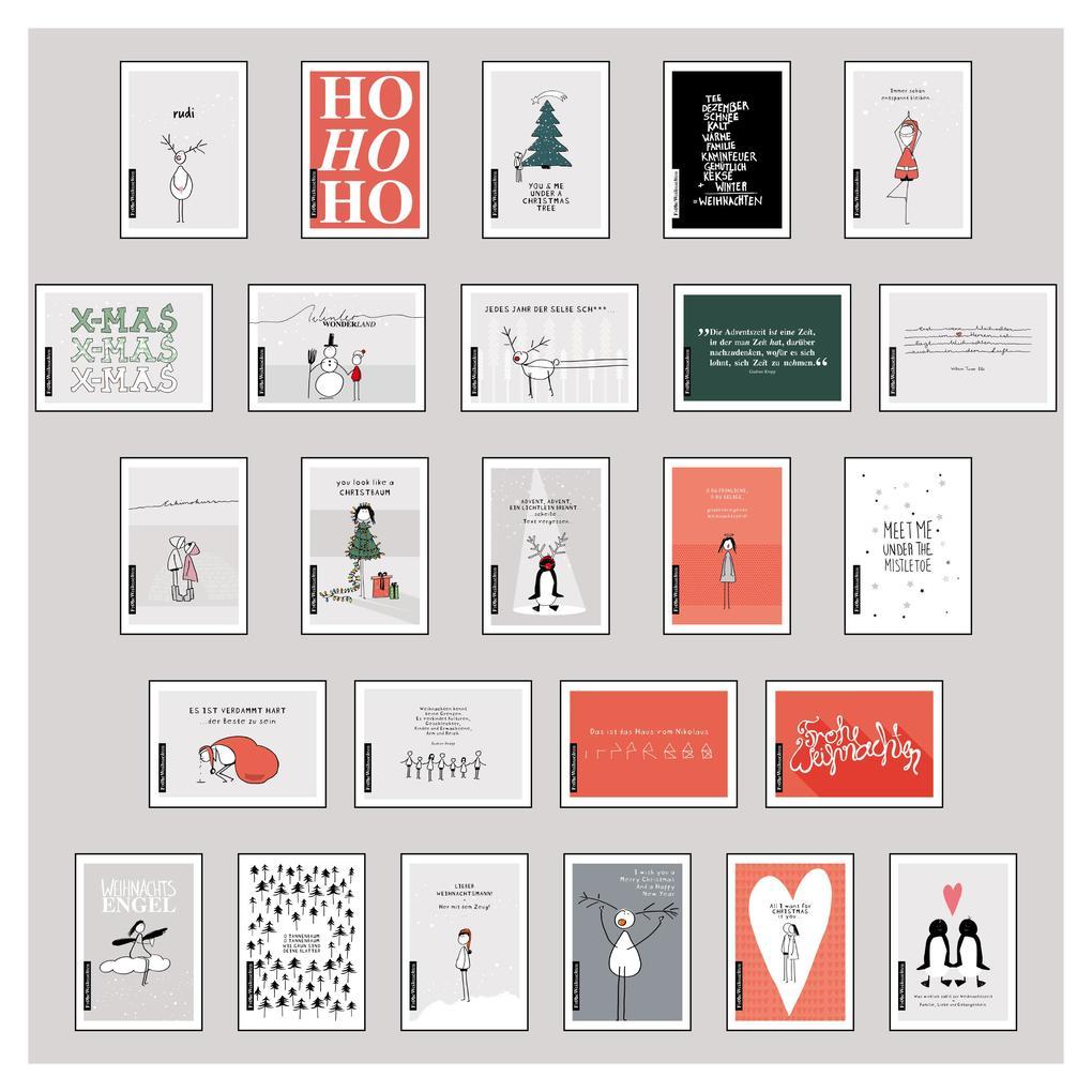 25 handgemachte Weihnachtskarten Teil 1 als sonstige Artikel
