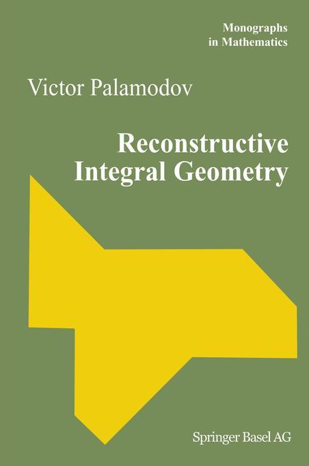 Reconstructive Integral Geometry als Buch (gebunden)