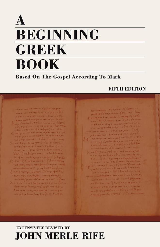 A Beginning Greek Book als Taschenbuch