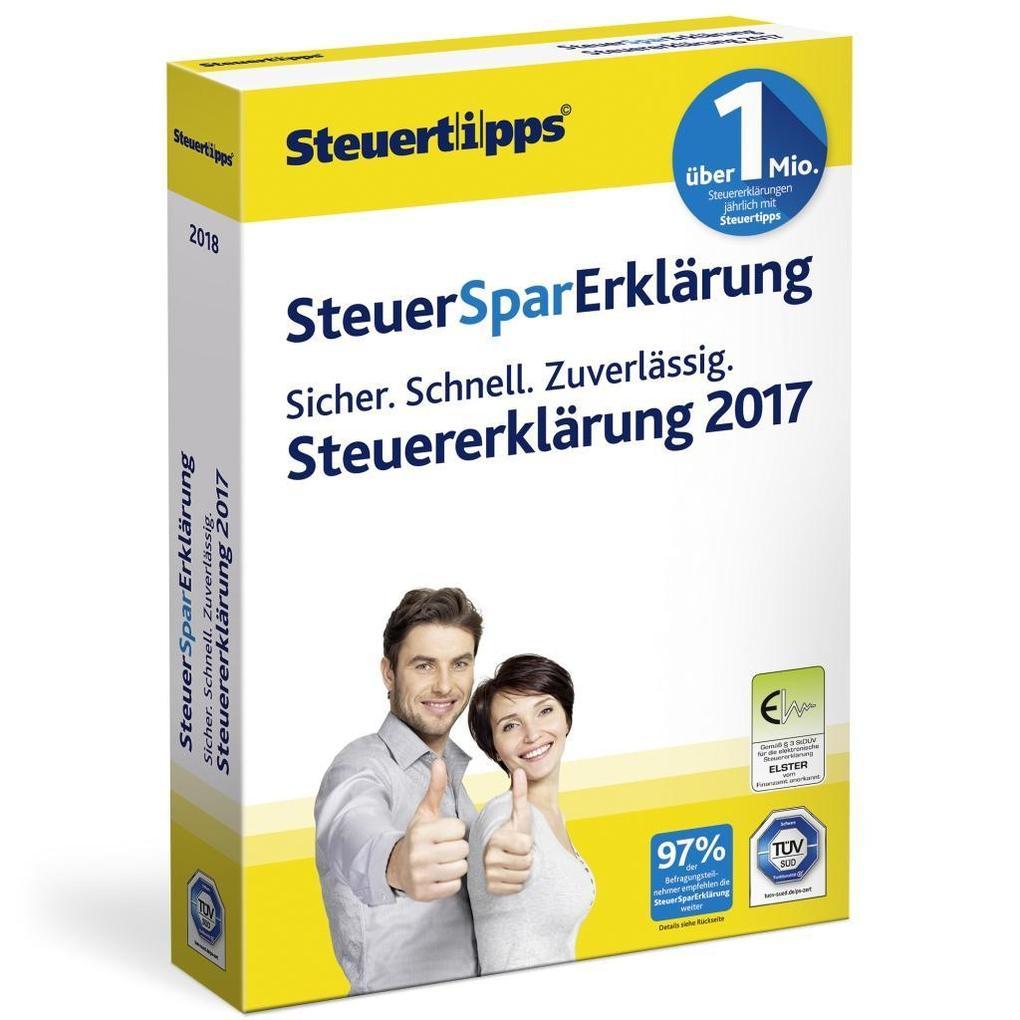 SteuerSparErklärung 2018 als Software