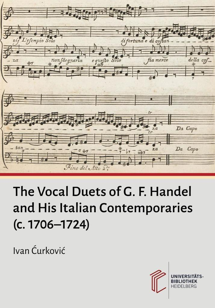 The Vocal Duets of G. F. Handel and His Italian Contemporaries (c. 1706-1724) als Buch