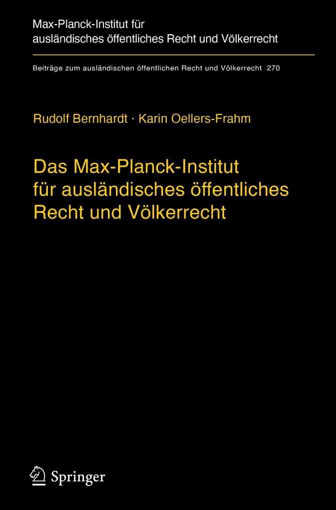 Das Max-Planck-Institut für ausländisches öffentliches Recht und Völkerrecht als eBook