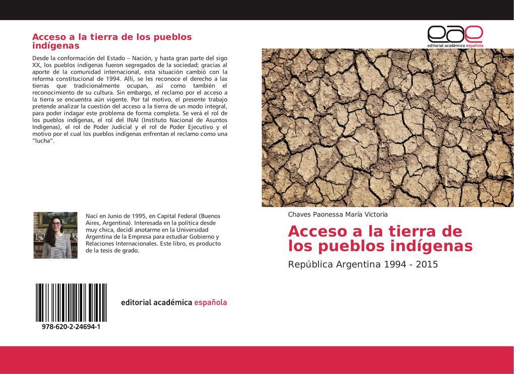 Acceso a la tierra de los pueblos indígenas als Buch von Chaves Paonessa María Victoria