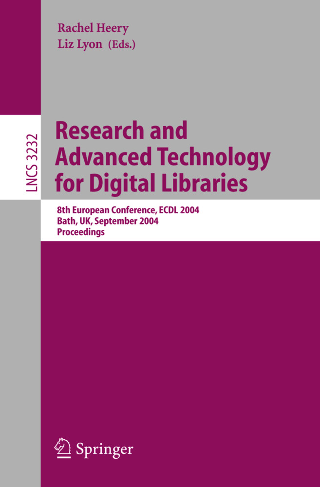 Research and Advanced Technology for Digital Libraries als Buch (kartoniert)