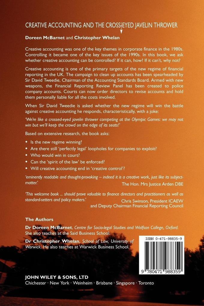 Creative Accounting and the Cross-Eyed Javelin Thrower als Buch (kartoniert)