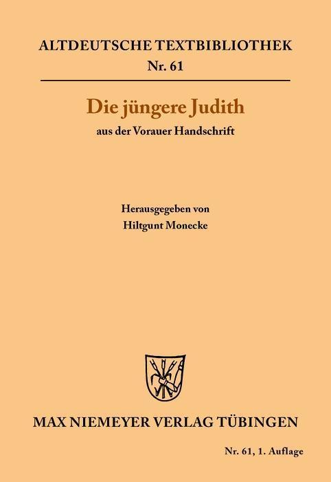 Die jüngere Judith aus der Vorauer Handschrift als eBook