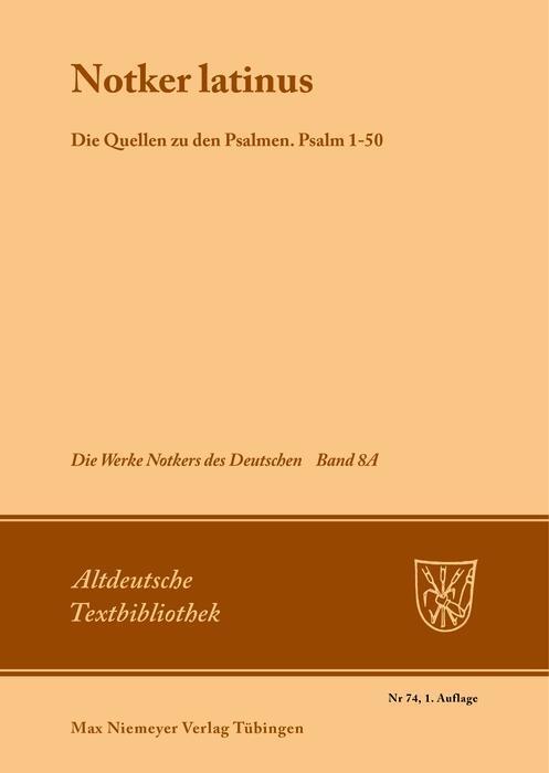 """""""Notker Latinus"""". Die Quellen zu den Psalmen als eBook"""