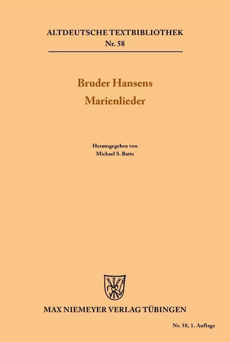 Bruder Hansens Marienlieder als eBook