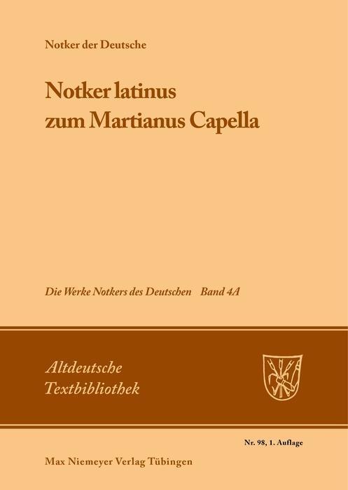 »Notker latinus« zum Martianus Capella als eBook