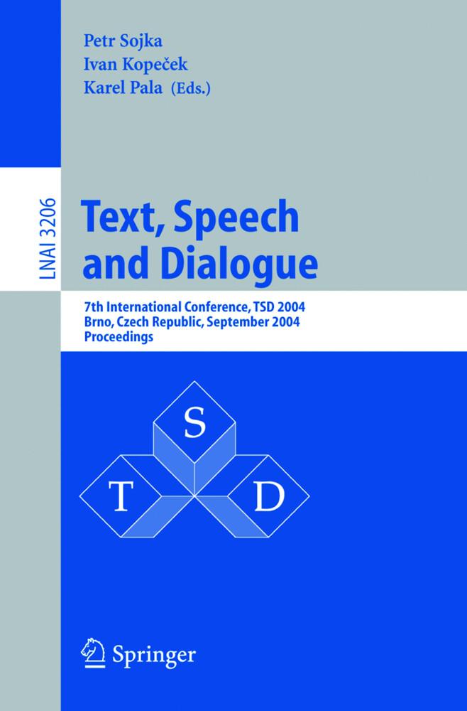 Text, Speech and Dialogue als Buch (kartoniert)