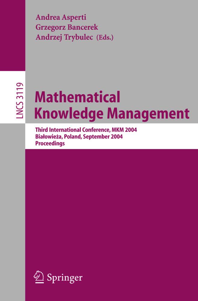 Mathematical Knowledge Management als Buch (kartoniert)