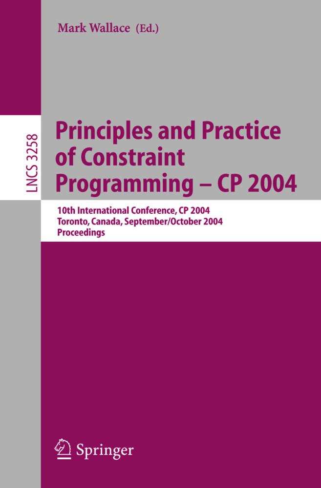 Principles and Practice of Constraint Programming - CP 2004 als Buch (kartoniert)