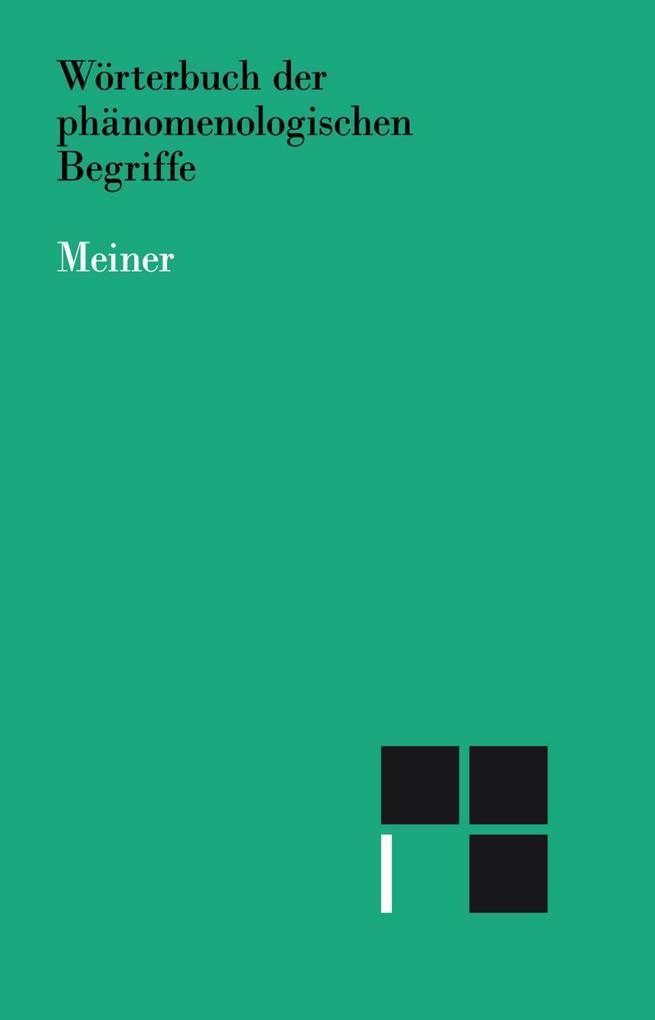 Wörterbuch der phänomenologischen Begriffe als Buch (gebunden)