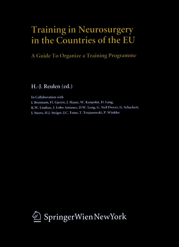 Training in Neurosurgery in the Countries of the EU als Buch (gebunden)
