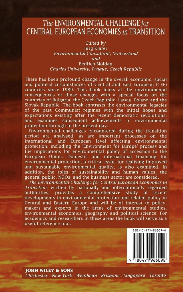 Environmental Challenge for Central Euro als Buch (gebunden)