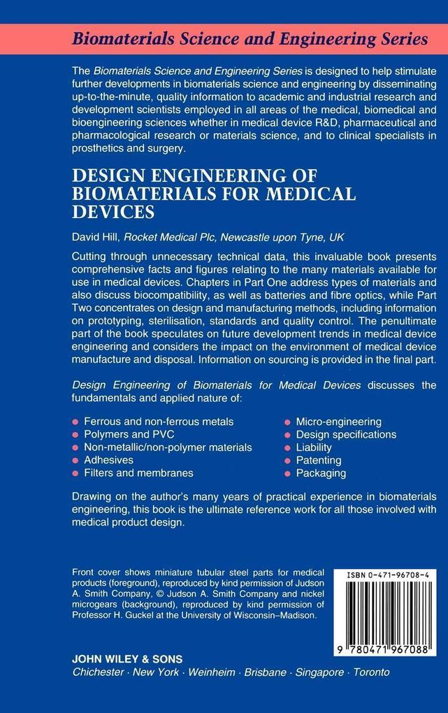 Design Engineering of Biomaterials als Buch (gebunden)