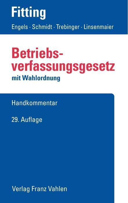 Betriebsverfassungsgesetz als Buch