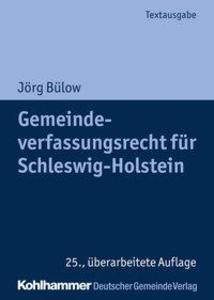 Gemeindeverfassungsrecht für Schleswig-Holstein als Buch (gebunden)