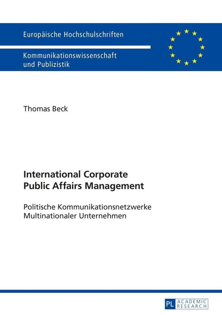 International Corporate Public Affairs Management als eBook