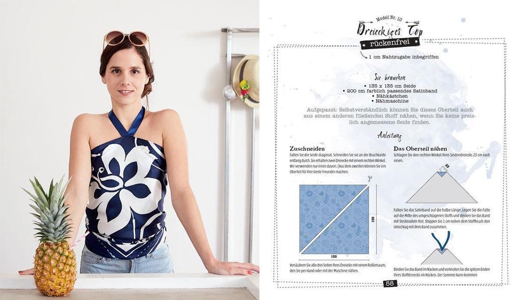 Sommermode nähen ohne Schnittmuster (Buch), Clémentine Lubin