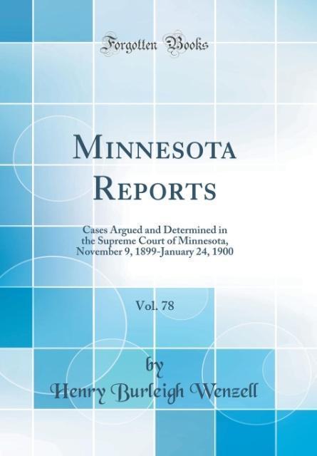 Minnesota Reports, Vol. 78
