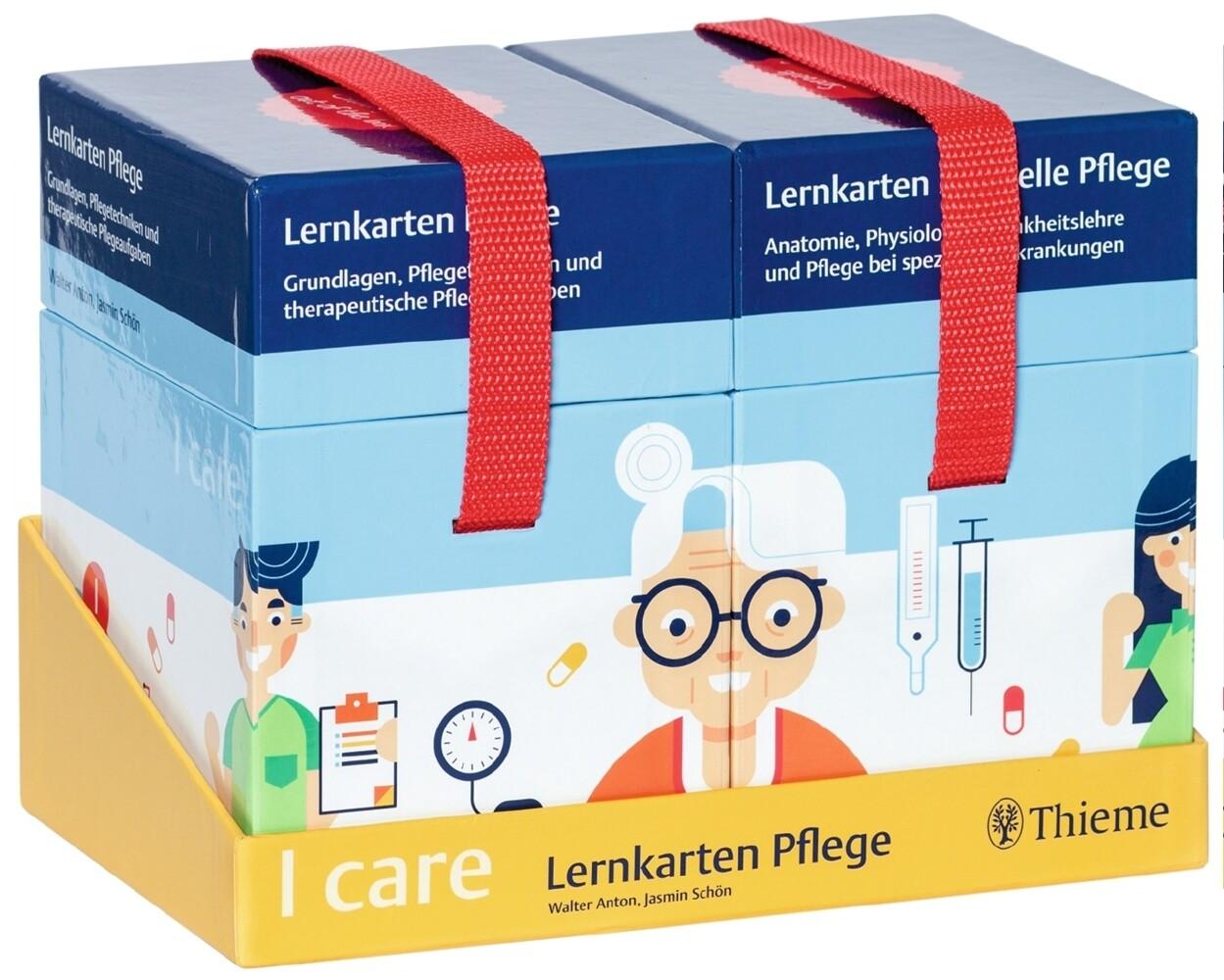 I care Lernkarten Pflege - Set (im Umkarton) als Blätter und Karten