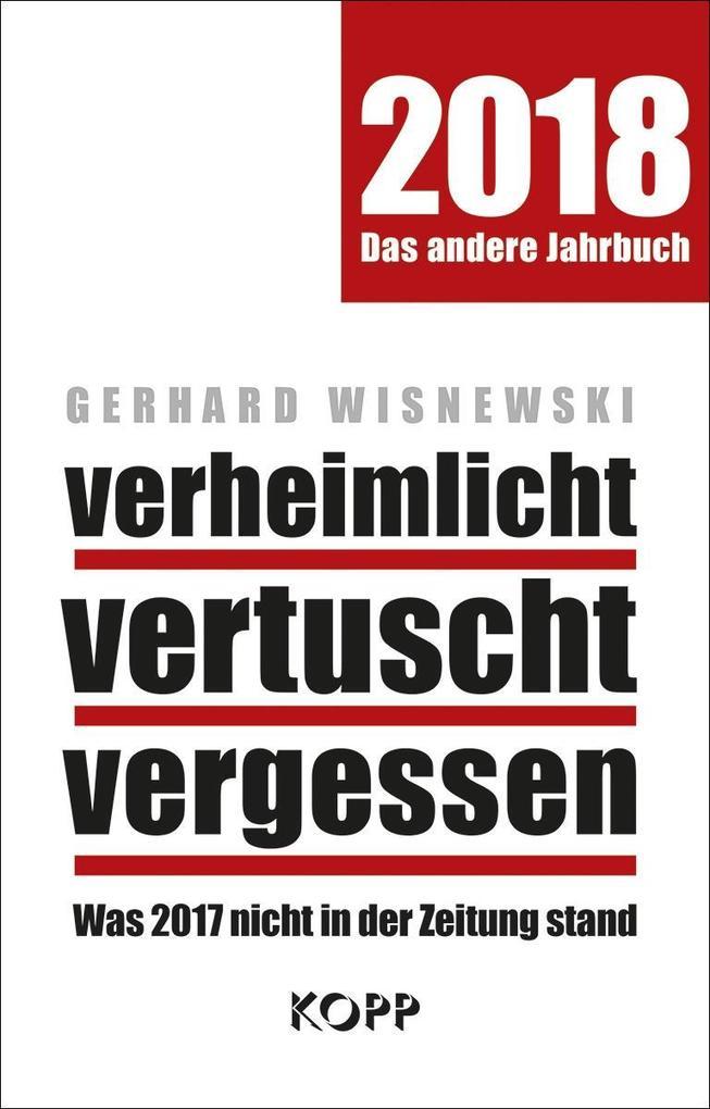 verheimlicht - vertuscht - vergessen 2018 als Buch