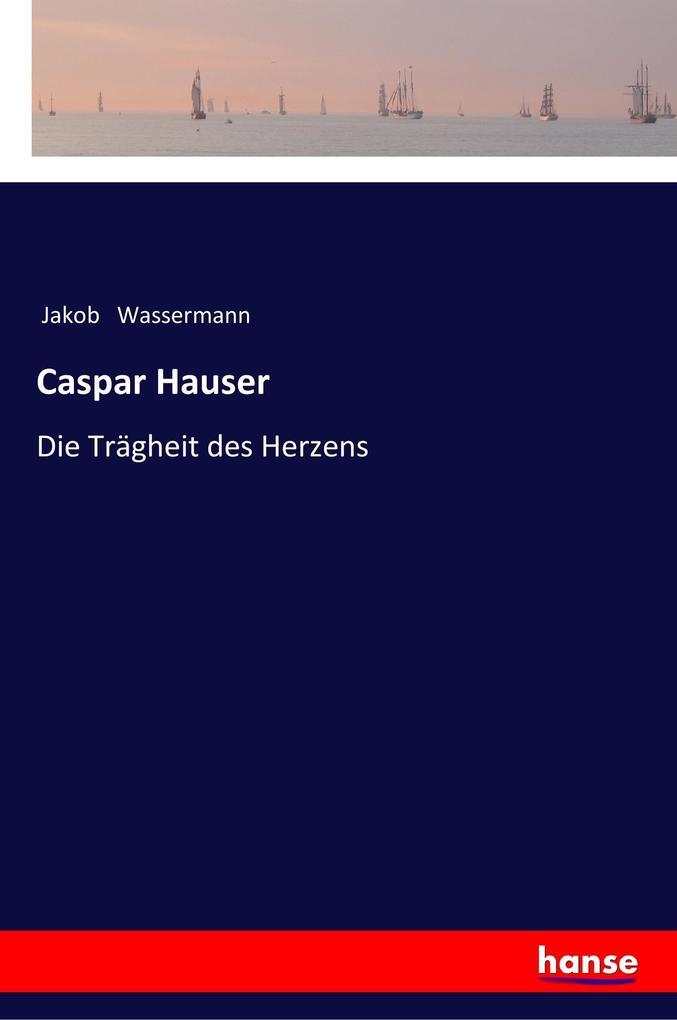 Caspar Hauser als Buch (kartoniert)