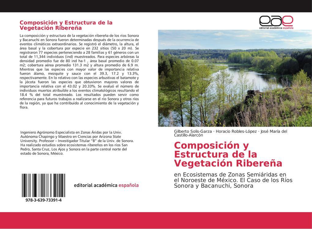 Composición y Estructura de la Vegetación Ribereña als Buch von Gilberto Solis-Garza, Horacio Robles-López, José María del Castillo-Alarcón, José ... - EAE