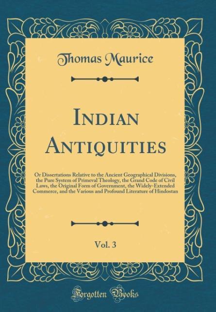 Indian Antiquities, Vol. 3