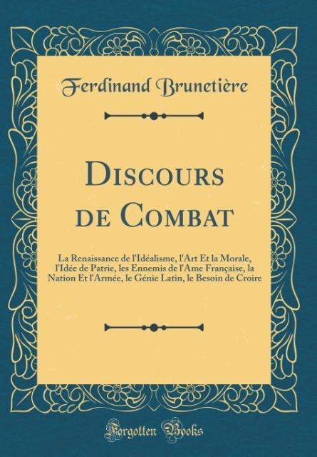 Discours de Combat als Buch von Ferdinand Brune...