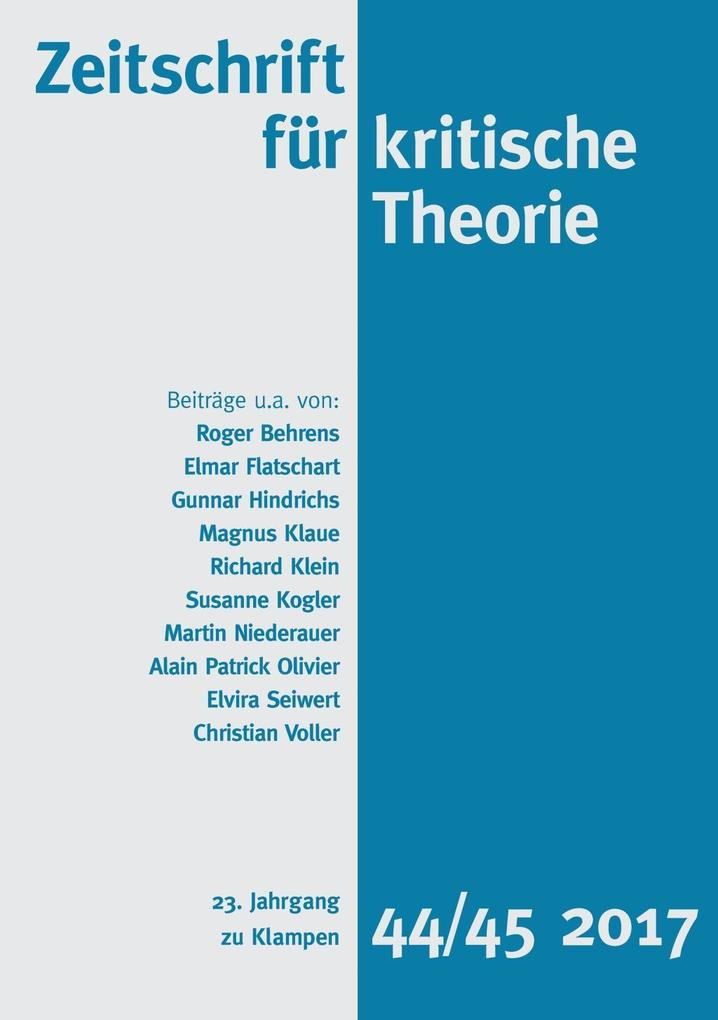 Zeitschrift für kritische Theorie als eBook