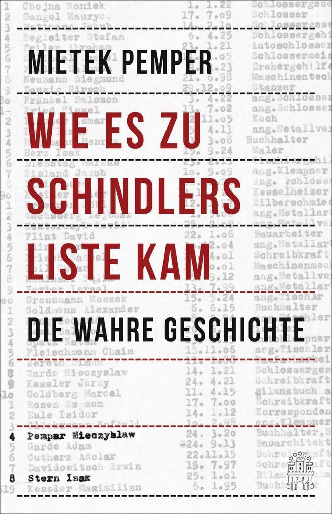Wie es zu Schindlers Liste kam als Buch