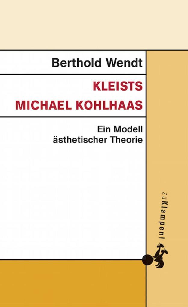 Kleists Michael Kohlhaas als eBook