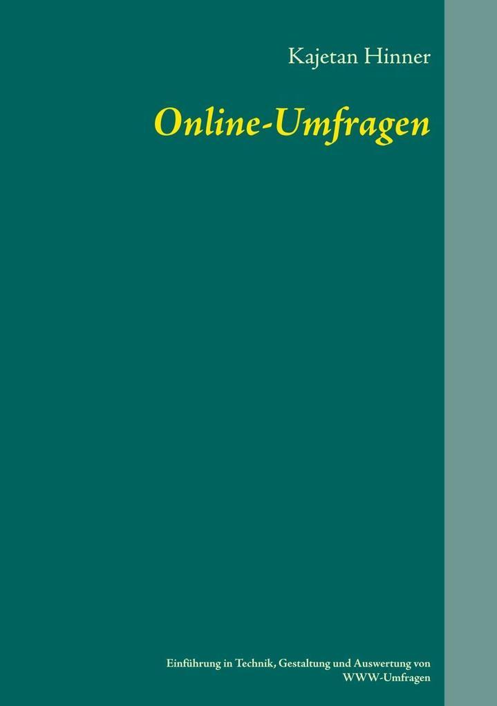 Online-Umfragen als eBook von Kajetan Hinner