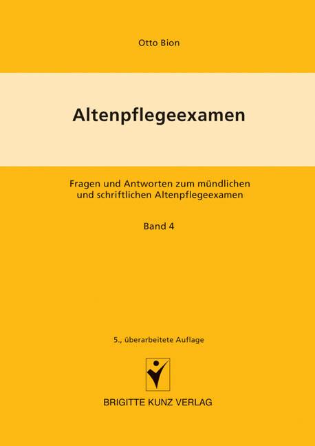 Altenpflegeexamen Bd. 4 als Buch