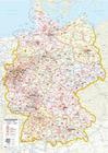 Whiteboard Postleitkarte Deutschland