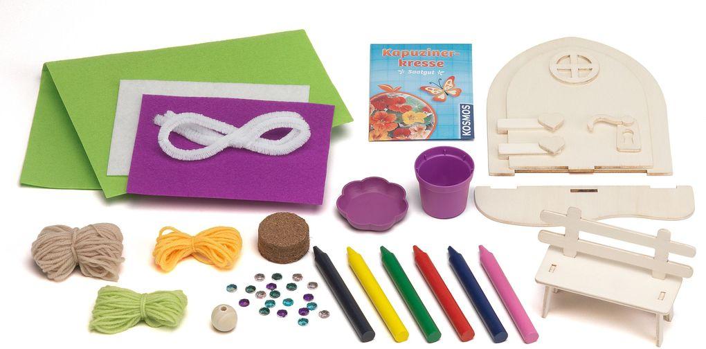 Magische Elfen-Tür Gestalte eine Zauberwelt auf deiner Fensterbank Bastelset Baukästen & Konstruktionsspielzeug