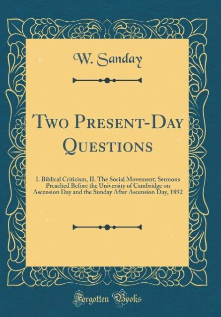 Two Present-Day Questions