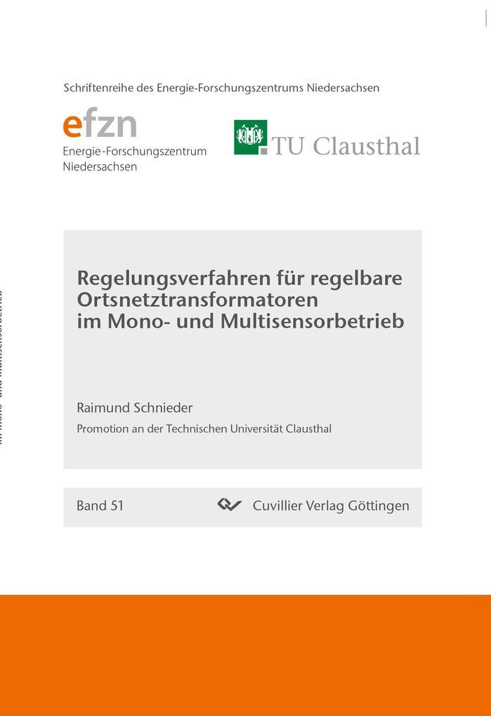 Regelungsverfahren für regelbare Ortsnetztransformatoren im Mono- und Multisensorbetrieb als Buch (kartoniert)