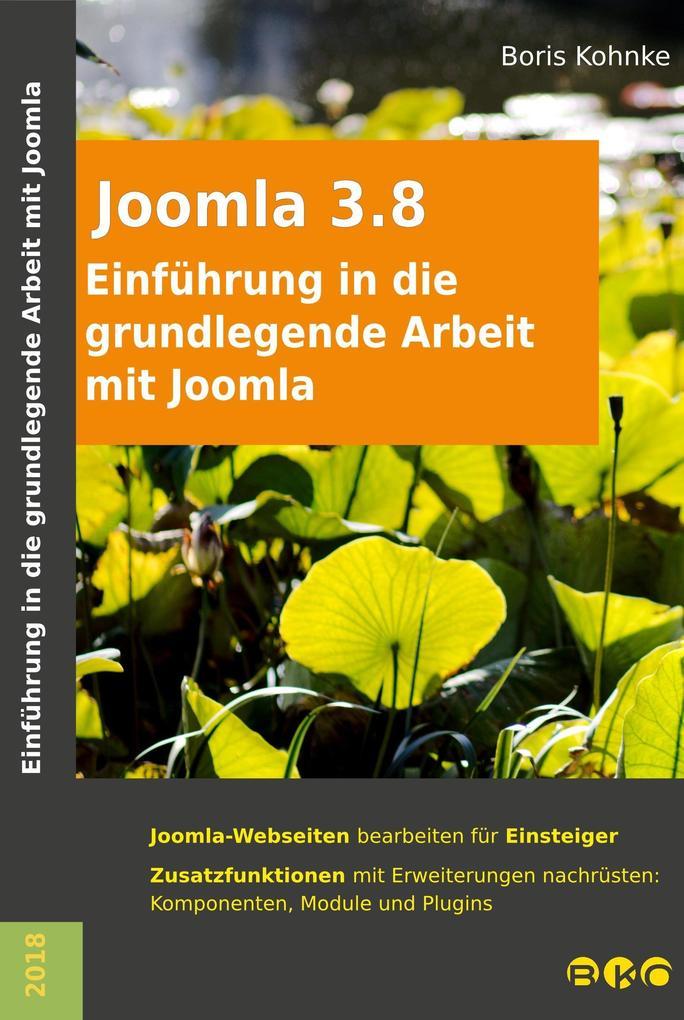 Einführung in die grundlegende Arbeit mit Joomla 3.8 als eBook