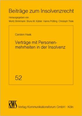 Verträge mit Personenmehrheiten in der Insolvenz als eBook