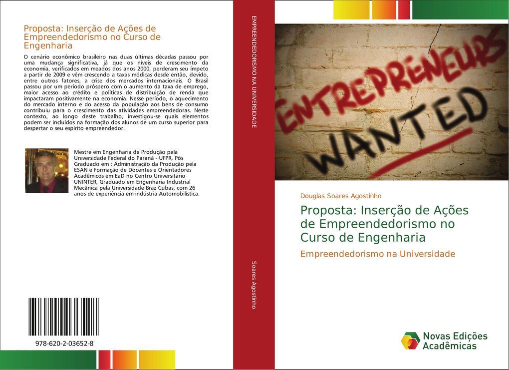 Proposta: Inserção de Ações de Empreendedorismo no Curso de Engenharia als Buch von Douglas Soares Agostinho