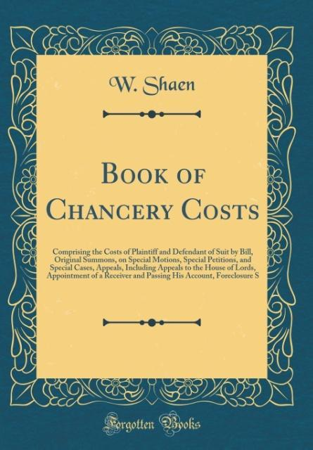 Book of Chancery Costs