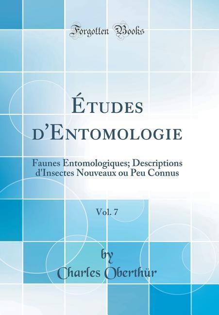 Études d´Entomologie als Buch von Charles Oberthür