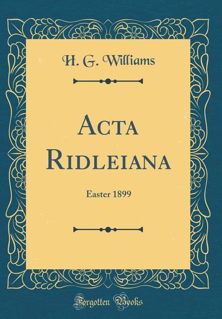 Acta Ridleiana
