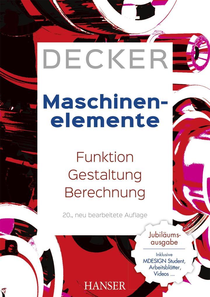 Decker Maschinenelemente als eBook pdf