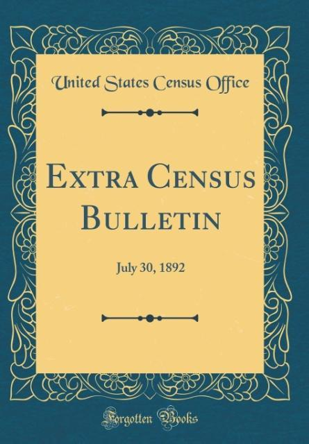 Extra Census Bulletin